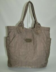 Marc Jacobs Large Quilted Nylon Tote Taupe $25.00