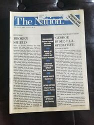 George Bush Cia Operative The Nation Magazine 7/16/88