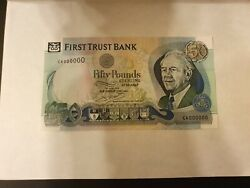 Rare Andpound 50 Pounds 2009 Specimen P138bs First Trust Bank Northern Ireland