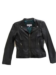 andrew marc leather jacket womens new $99.00