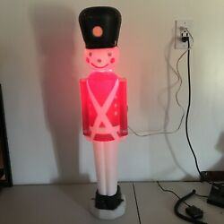 Empire Blow Mold Lighted 31 Toy Soldier Yard Decor Christmas Tested Working