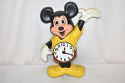 Mickey Mouse, Walt Disney Productions Wall Clock Very Rare Welby / Elgin