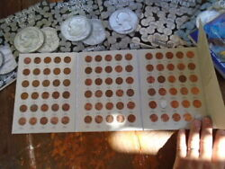 Folders Lincoln Cent 1975 - 2013 Whitman Almost Complete 88 Coins P And D Penny