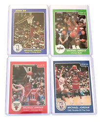 SET OF 4 1985 STAR Michael Jordan Rookie ACEO Cards Dunk Gatorade Bulls MJ 23 $44.99