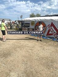 Vintage Lg 10ft Rare Porcelain Standard Oil Company Gas Gasoline Sign
