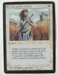Swords To Plowshares Mtg Beta 1993 Very Fine/ Very Fine + See Photoand039s