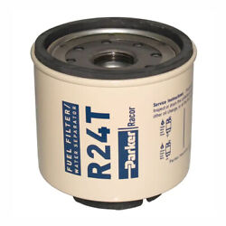 Racor Parker R24t Genuine Oem 10 Micron 3.5andrdquo Water Separator Fuel Filter Element