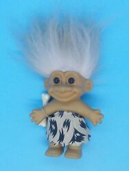 Rare Russ Troll Gonk Doll. Cave Person With Bone. Retro Toy Collectors Item.