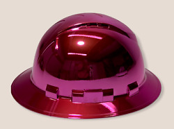Custom Painted Hard Hat Ridgeline Full Brim Pink