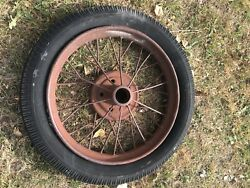 Model T Ford Wire Wheel Rim And Tire