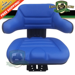 Blue Suspension Tractor Seat Wrap Back Fits Ford/fits New Holland 600, 601, 800
