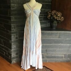 Fate Boho Beach Striped Halter Maxi Dress $59.99