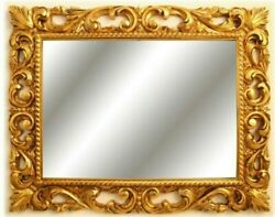 Frame Oval Wooden Leaf Oro. For Paintings Photo Prints Poster Ecc. Italian