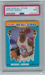 1990 91 Fleer MICHAEL JORDAN ALL STARS #5 PSA 9 MINT $99.99