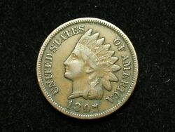 Spring Sale Xf 1897 Indian Head Cent Penny W/ Diamonds And Full Liberty 69e