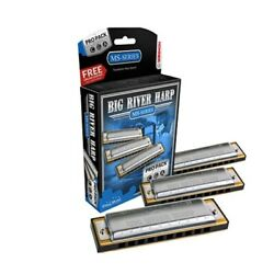 Hohner Big River Harp Harmonica Pro Pack Keys C G And A