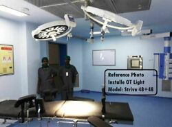 Dual Led Ot Surgical Lights Surgery Operation Theater Led Lamp 48+48 Lights