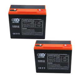 2pcs 6-dzm-20 6dzm20 12v 24ah Rechargeable Battery For Electric Scooter Atv Quad