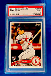 2011 Topps Update Mike Trout Rookie Rc Us175 Psa 9 Mint 1quality Fast Service