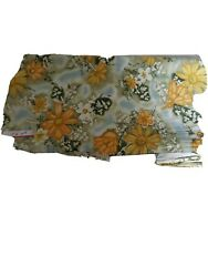 Vintage Fabric yellow and green flowers Sewing Cotton Fabric 5.5 yds