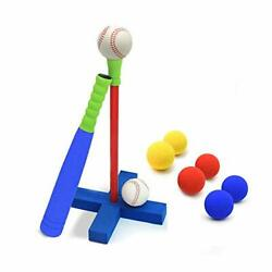 16.5 Inch Kids Foam T Ball Baseball Set Toy For Toddlers 8 Different Colored