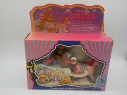 Vintage 1982 Wind-up Litho Circus Wagon Toy Tested And Working In Original Box