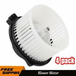 4x Front Ac Heater Blower Motor W/ Fan Cage For 2001-2007 Toyota Tundra Sequoia