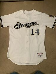 Milwaukee Brewers Casey Mcgehee 14 Autoandrsquod Sig Jersey 48 Majestic Authentic Game
