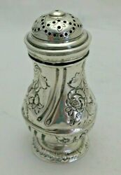 George I 1720 Georgian Antique Solid Silver Pounce Pot Shaker 1344-9-vosy
