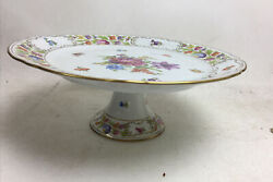 Schumann Bavaria China Empress Dresden Flowers Footed Cake Stand Compote