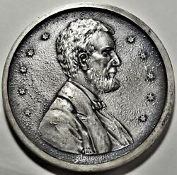 1933 Abraham Lincoln Hard Times Token Medal 75mm Silvered King-981 Eglit-cp146