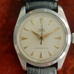 Tudor Vintage Oyster Ref. 7934 Small Rose Silver Dial Just Serviced Free Sandh