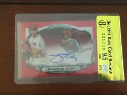 Jonathan India 2018 Bowman Sterling Auto Red Refractors /5 Raw Review Bgs 9.5