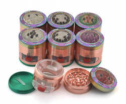 63 Mm Tobacco Herb Grinder -side Opening Window With Drawer And Diamond Turtle Lid