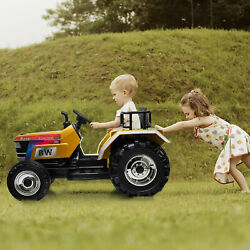 12v Kids Ride On Tractor With Remote Control Electric Battery Powered Tractor