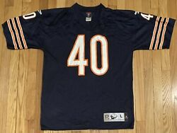 Chicago Bears Gale Sayers 40 Reebok Nfl Gridiron Classic Throwback Jersey Large