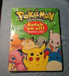 Brand New Factory Sealed Pokemon The First Movie Catch 'em All Trading Cards Box