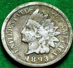 1893 Us. Indian Head Penny Ch4