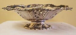 Martin Hall And Co. Sheffield Silverplate 1875 Fruit Basket With Grape And Vine