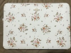 Coach Laptop Sleeve In Rose Bouquet Print Floral Chalk White 91783 Nwt