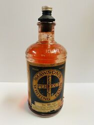 Vintage Ink Bottle Mawson's Writing Fluid 16oz Glass Great Condition