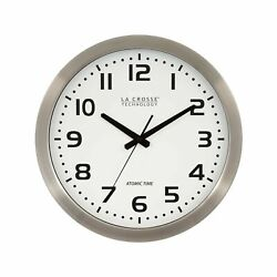 La Crosse Technology 16 Inch Stainless Steel Atomic Clock - White Dial 16 Me...