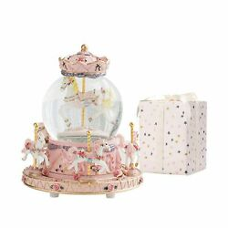 Love For You Music Box Unicorn Snow Globes For Girls Child Carousel Horse Mus...