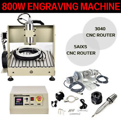 Usb Cnc 3040 5 Axis Router Engraver Engraving Wood Cutting Milling Machine Equip