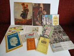 Vintage Assortment Of Paper Collectibles 1950's 1960's 12 Items