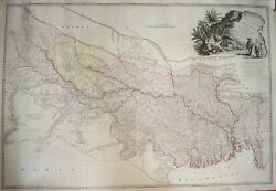 India - A Map Of Bengal, Bahar, Oude And Allahabad With Part Of Agra And Delhi, 1786