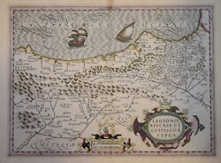 Basque Country, Leon And Guipuzcoa By Mercator / Hondius, 1606.