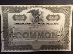 American Bank Note Company 1930and039s-1940and039s