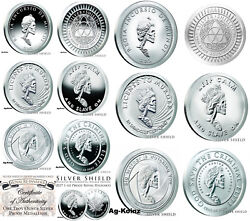 Complete Slave Queen Proof And Bu Sets 15 Oz With Coaand039s Silver Shield 2016-18