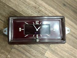 1941 1942 Packard Clock Fully Reconditioned Runs Rare Maroon Dial